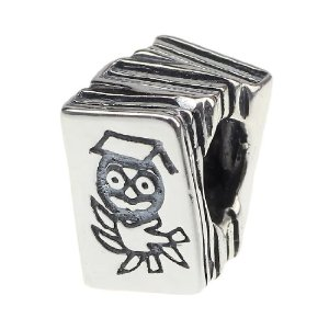 Pandora Wise Old Owl Books Charm image