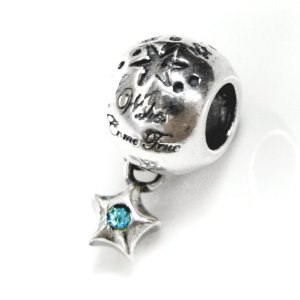 Pandora Wishes Came True Star Aquamarine Charm