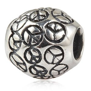 Pandora World Peace Silver Round Charm