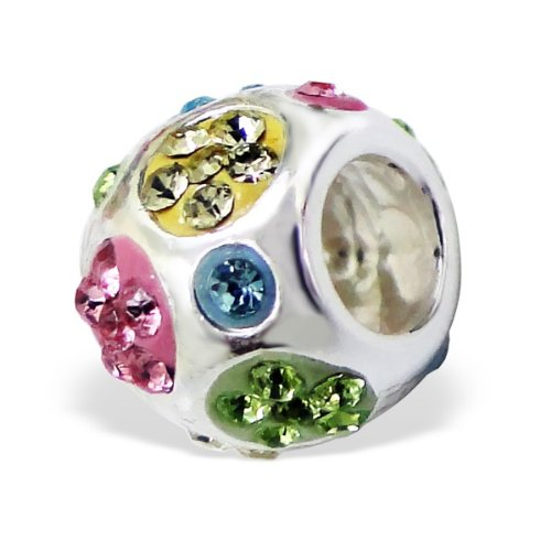 Pandora Yellow Green Blue Pink CZ Crystals Charm