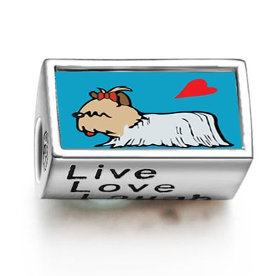 Pandora Yorkshire Terrier Dog Live Love Laugh Charm image