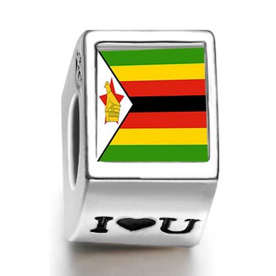 Pandora Zimbabwe Flag Words Live Love Laugh Charm