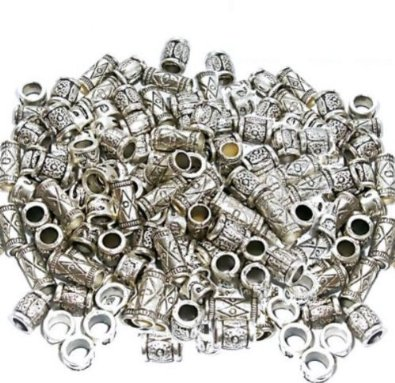 Set Of 50 Silver Spacer Beads Charm