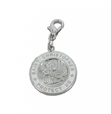 St Christopher Steel Charm