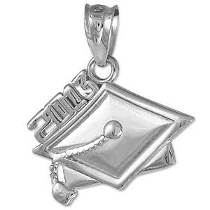 Sterling Silver 2013 Graduation Mortarboard Charm