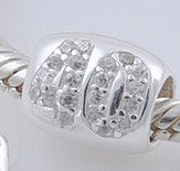 Sterling Silver 40 Crystal Spacers Charm