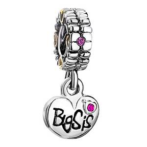 Sterling Silver Big Sister Pendant Charm