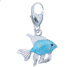 Thomas Sabo Silver Blue Fish Clip On Charm