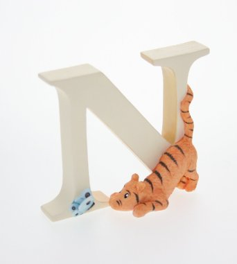 Tigger With Butterfly Alphabet N Charm