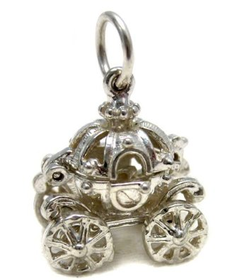 Welded Bliss Cinderella Pumpkin Carriage Sterling Silver Charm image